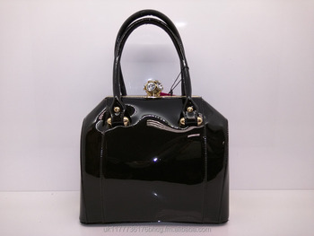 Superbia High Quality Patent Diamond Clasp Women Handbag