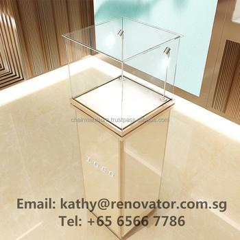 S ulenf rmigen mit led licht schmuck schaufenster standard for Tegee glas schaum glanz