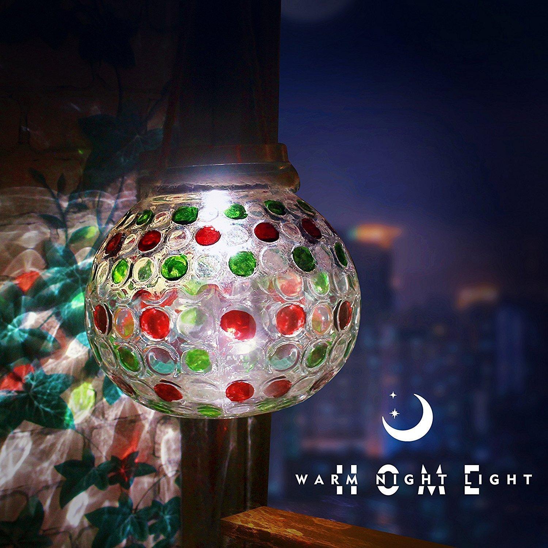 Get Quotations · SNIGJAT Solar Powered Glass Ball Led Glass Light,Waterproof  Solar Lights Garden Lights,Outdoor