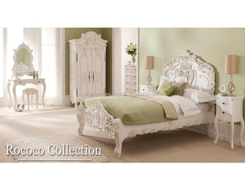 Solid Mahogany French Headboard Rococo Bed Carved Size King Bedroom Set Furniture Buy Bed Bedroom Furniture Set Rococo Furniture Product On