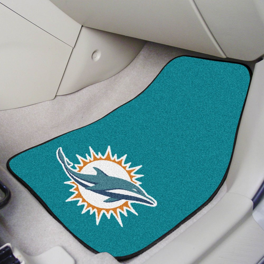 NFL Miami Dolphins 2 Piece Car Mat Set