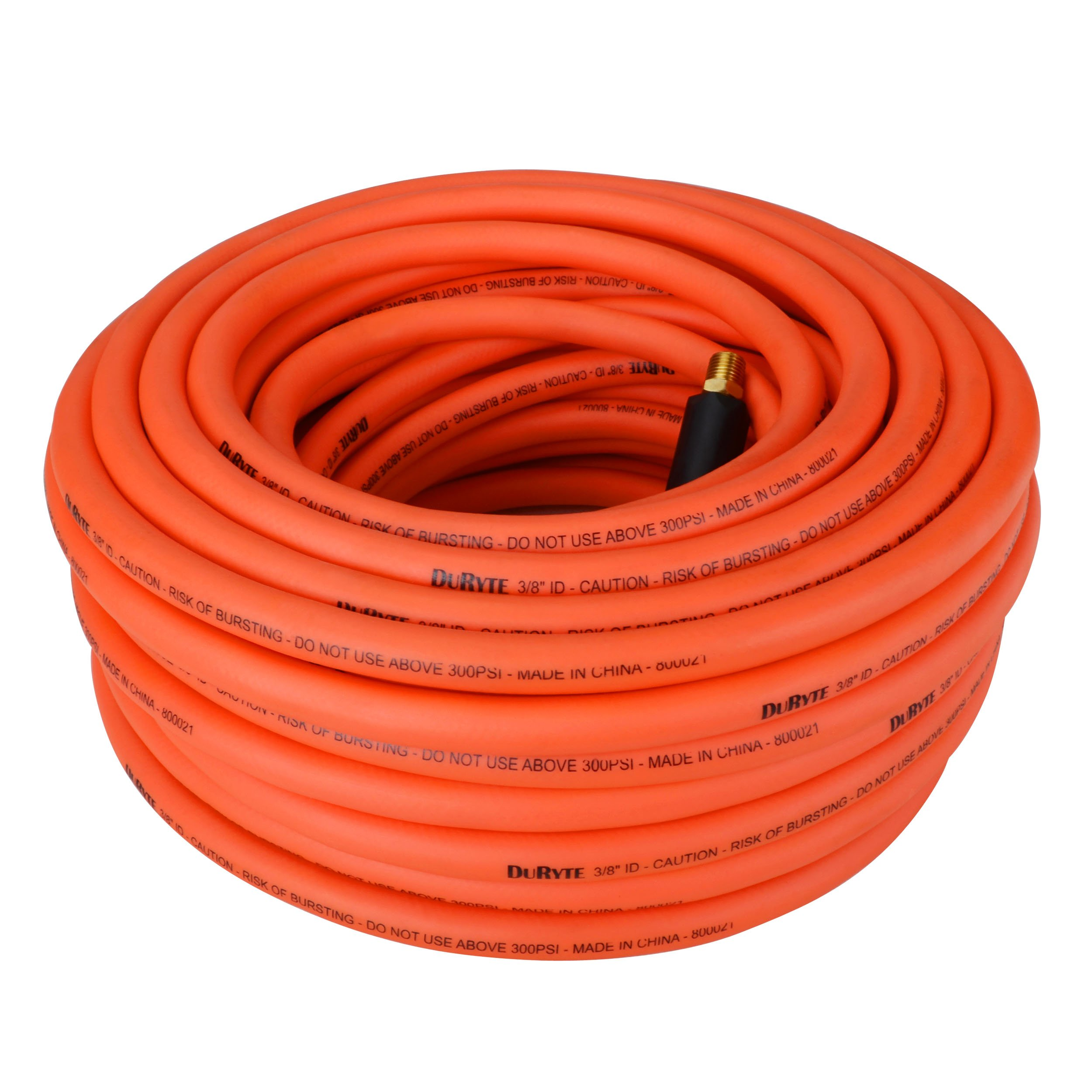 1//4-Inch MNPT Brass Ends Air Hose Non-Kinking Extreme All-Weather Flexibility Light Weight Lays Flat Heavy Duty PVC//Rubber 3//8-Inch by 50-Feet Soft DuRyte Pro 300 PSI Hybrid