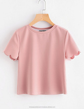 Summer Ladies T Shirt Dyed Branded Cheap Wholesale