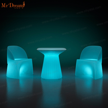Mr.Dream modern design waterproof color changing nightclub party acrylic outdoor led chair