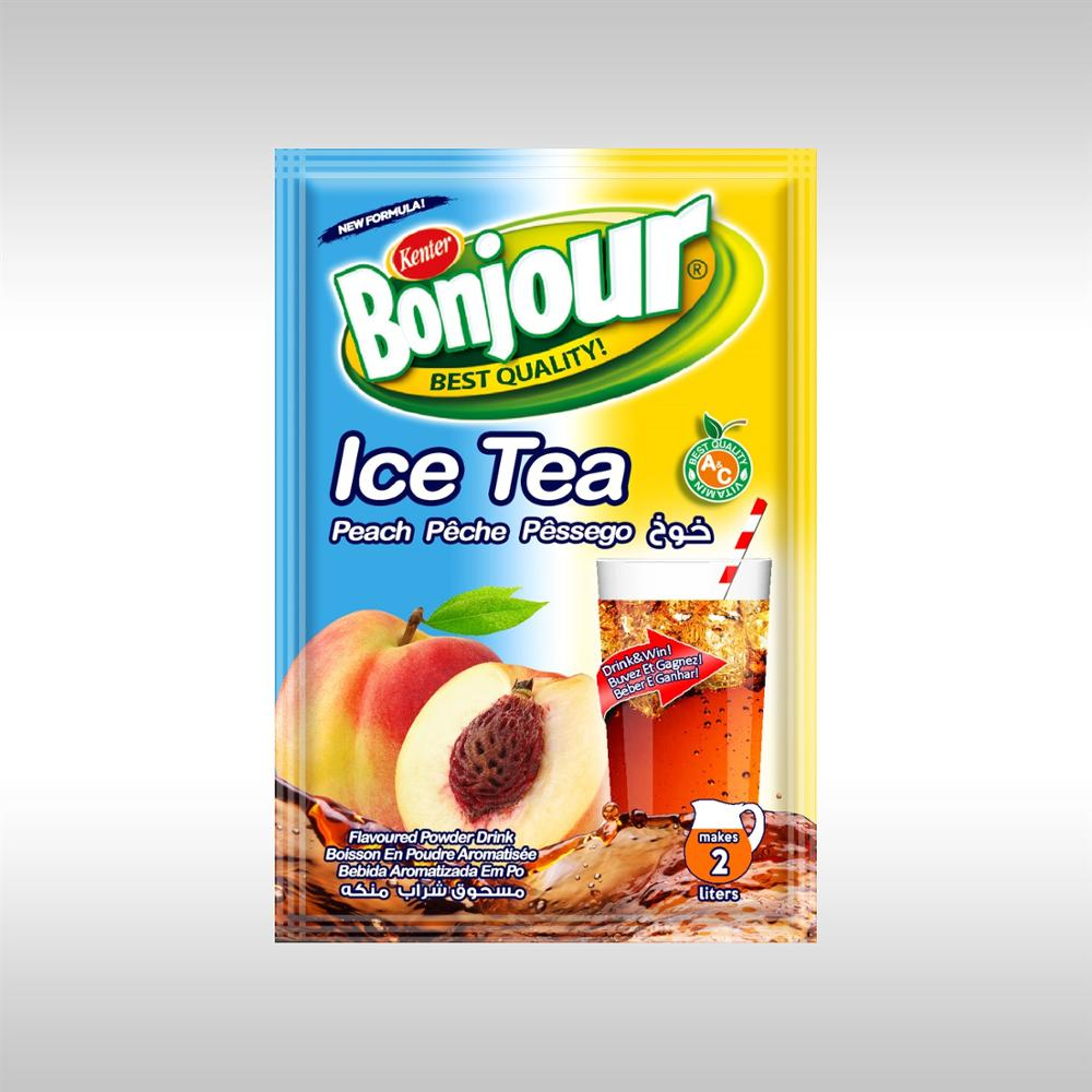 Bonjour Ice Tea Powder Drink Peach Buy Instant Powder Drink Ice Tea Flavoured Powder Drink Ice Tea Product On Alibaba Com
