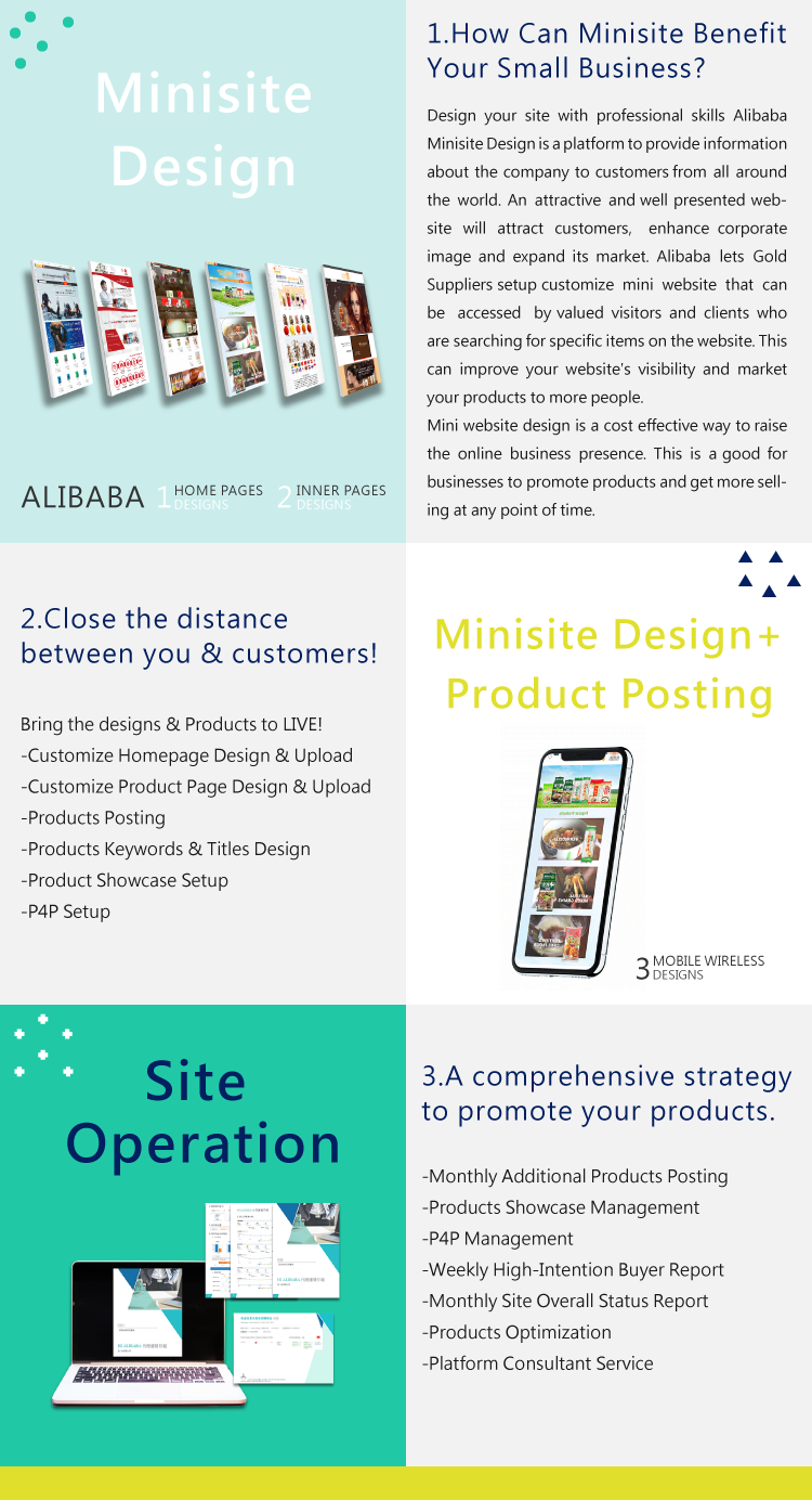 Top Notch Quality Affordable Alibaba Minisite Design service