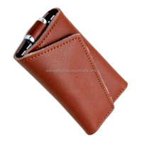High quality leather key wallet with 6 key hooks