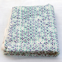 Floral sanganeri hand block printed pure natural cotton running fabric wholesaler manufacturer from indian