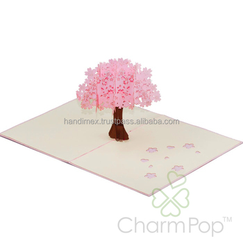 Floral 3d Card Design Vietnam Custom Pop Up Invitation Card Handmade