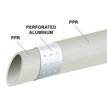 Pipe with perforated aluminum Pn25 bar