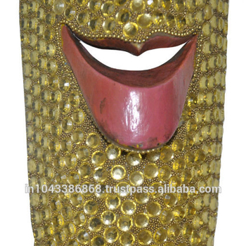 Indian Home Decor Bead Handicraft Traditional Designer African Face
