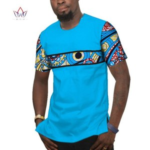 2019 summer African Print Dashiki o-neck top funny t-shirts 6XL Short Sleeve Men africa casual cotton Clothing Plus Size WYN77