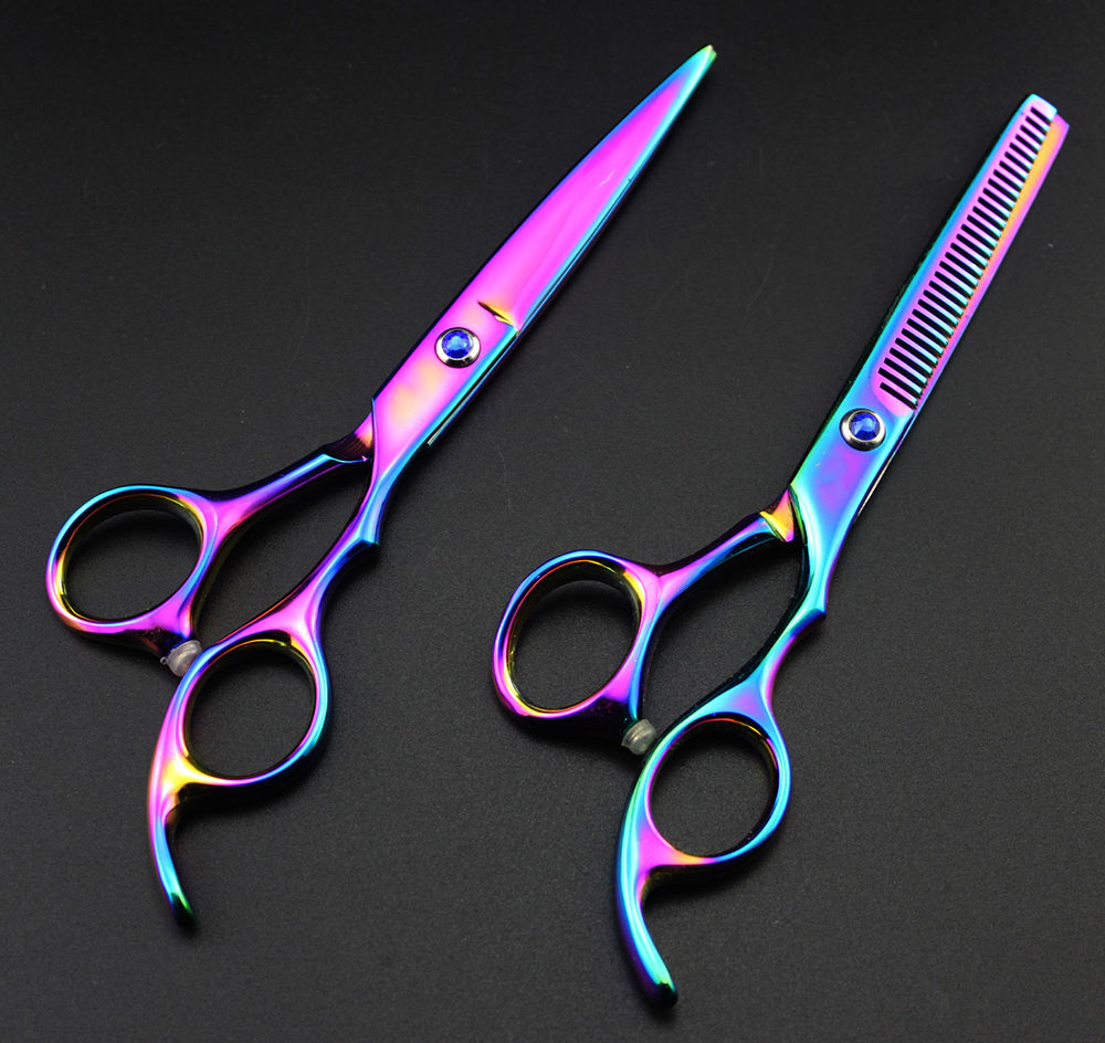 Professional Hairdressing Barber Salon Scissors, Thinning Scissors Kit 5.5