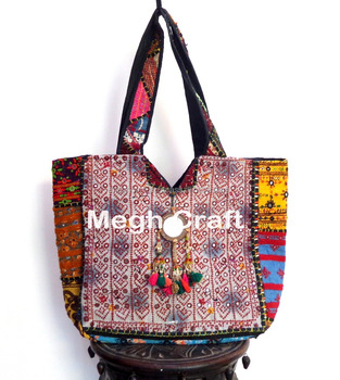 Vintage Banjara Bag Boho Gypsy Tribal Ethnic Tote Bohemian Kutch Handbags