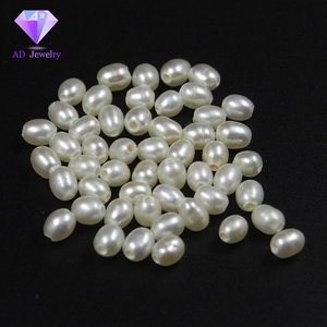 3-10mm natural freshwater loose AAA botton pearl beads with hole