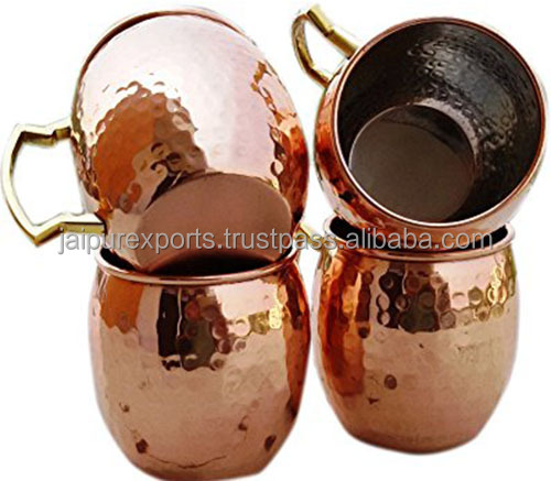red copper mug 16 oz Moscow pure copper mug set