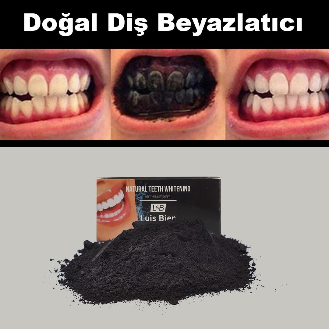 بودرة تبييض الأسنان بالفحم