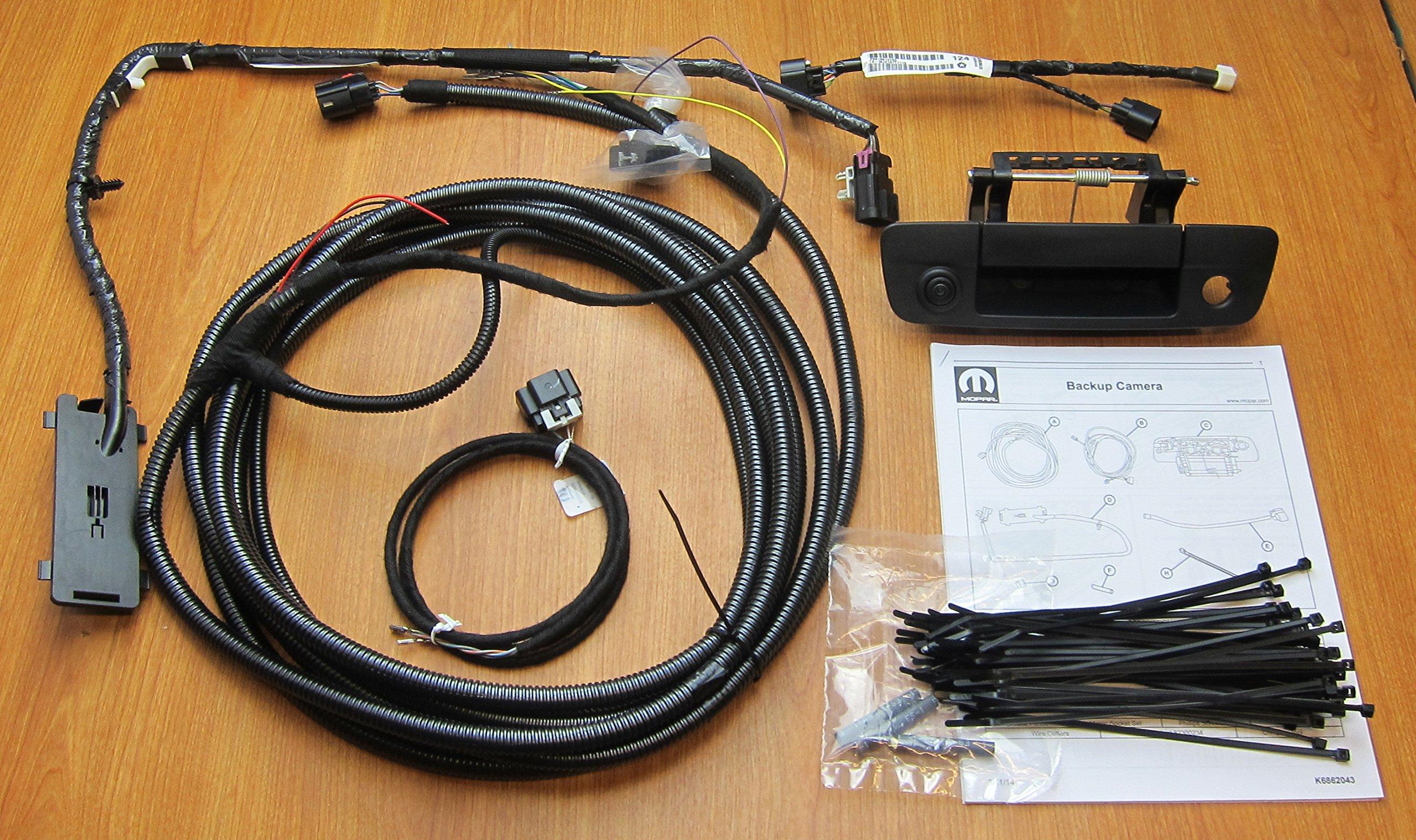 Get Quotations · Dodge Ram 1500 2500 3500 Rearview Backup Camera Kit Mopar  OEM 82214240AB