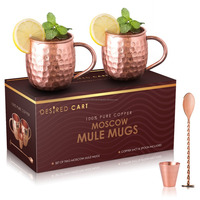 Copper Hammered Mugs Copper plated Cups Drinkware With Handgrip Nice Gifts