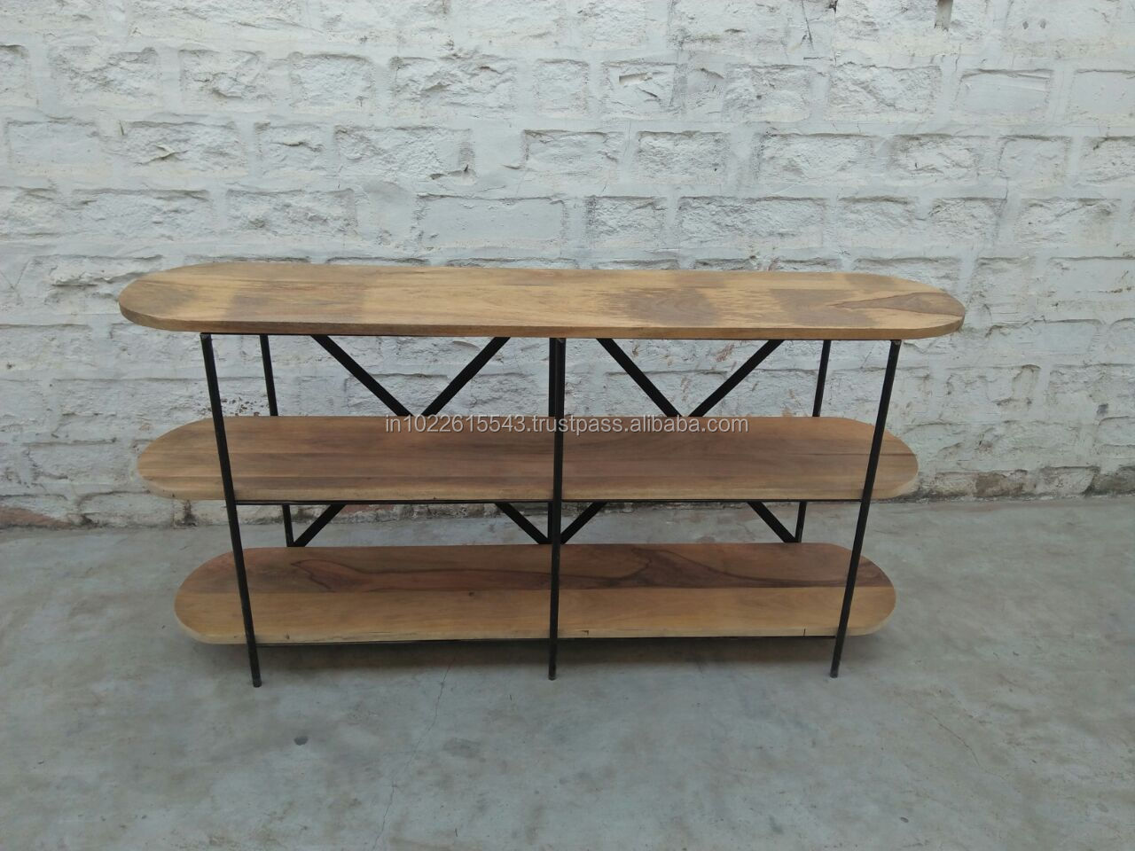 Industrial Multi Shelf Mango Wood Console Table,Vintage Acacia Wood Console  Table With Iron Frame   Buy Antique Wood Console Tables,Industrial Wood ...
