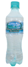 Natural ecologically pure drinking mineral water sparkling
