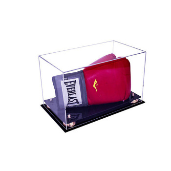 Signed boxing batting glove acrylic display holder with black base gold risers