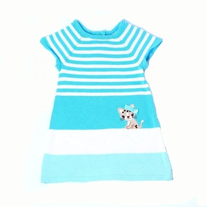 Child sweater High quality new applique and stripe sweater for girl