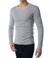 OEM New arrivals slim fit v neck t-shirt all colours guaranteed quality/Wholesale custom designs plain slim fit tshirt all sizes