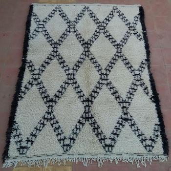 Tribal Berber Carpet Beni Ourain Rug