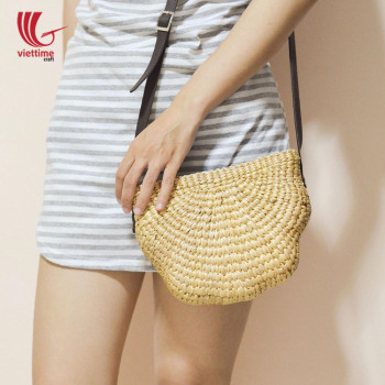 New style crossbody bag, Water Hyacinth Shoulder Bag made in Vietnam, Women straw bag wholesale