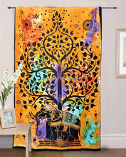 Bohemian Hippie Tree Of Life Indian Window curtain