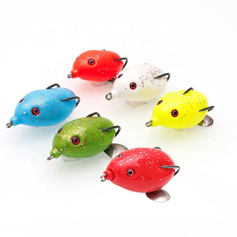 OBSESSION 10g 5cm soft frog fishing lure new design topwater lure bass fishing lure фото