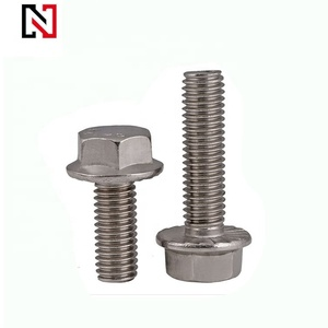 304 stainless steel hex head flange bolt DIN6921