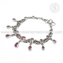 Beautiful cz gemstone silver bracelet jewellery 925 sterling silver bracelets jewellery manufacturer wholesaler jewelry