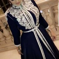 black marocain caftan with white embroidery dress Moroccan kaftan luxury kaftan dresses for women traditional moroccan robe