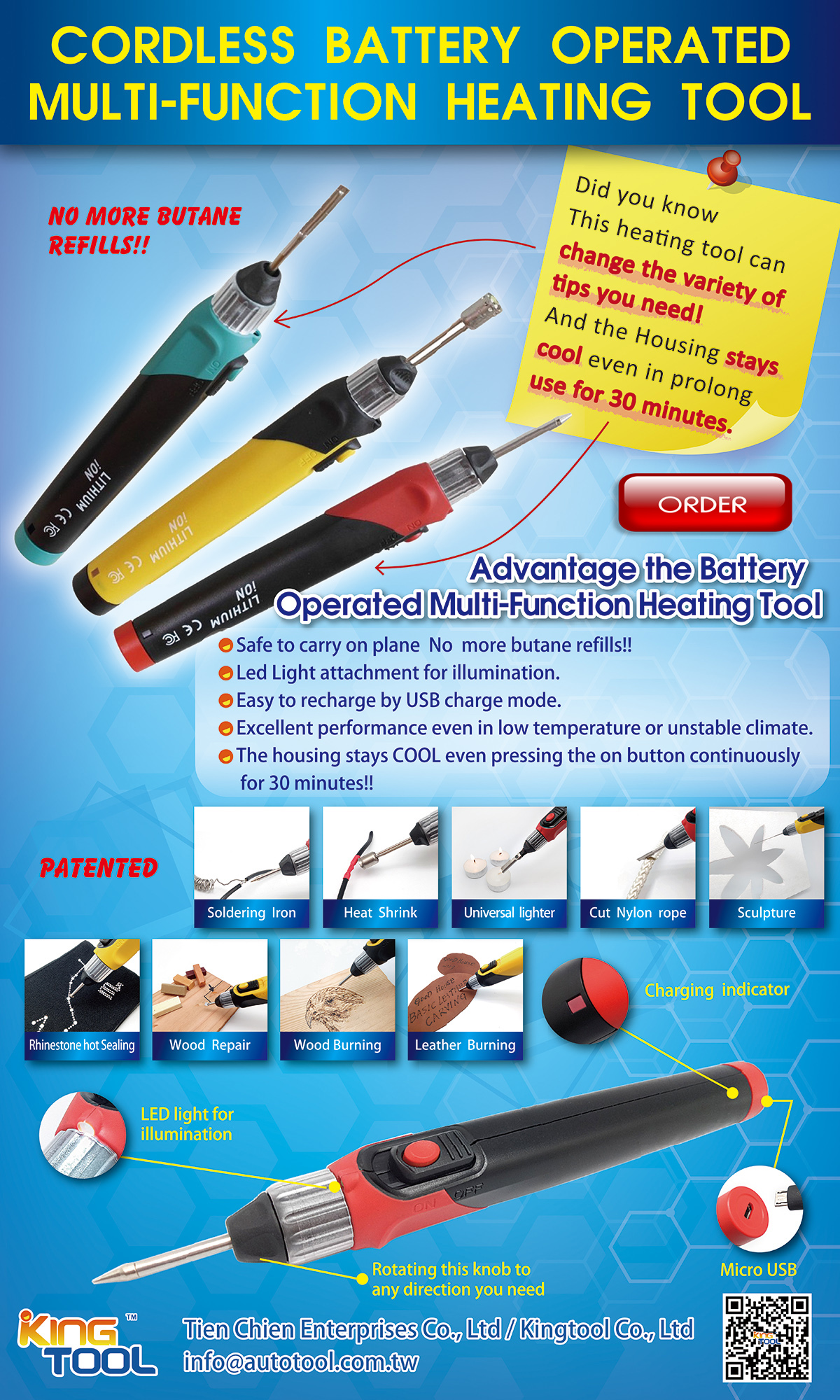 Cordless portable heating foam tool hot knife, View High