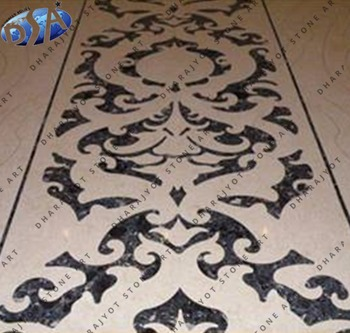 Italian Marble Flooring Inlay Design