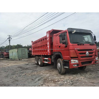 Used Howo 10 Wheel Tipping Truck/ Seconed Head 371Hp 375Hp Dump Truck For sale