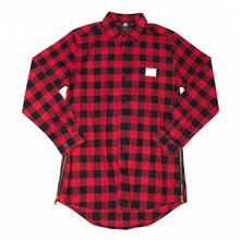 Flanel shirts met side rits