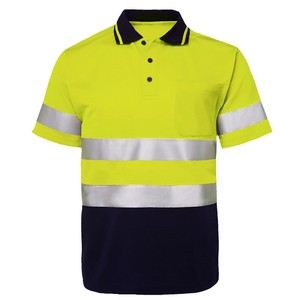 Top selling high visible safety polo shirt for men hi viz workwear shirts