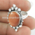 Attract red sunstone ring silver jewellery 925 sterling silver rings jewelry manufacturer