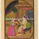 Hippie traditional mughal king & queen erotic harem scene indian miniature art handmade painting