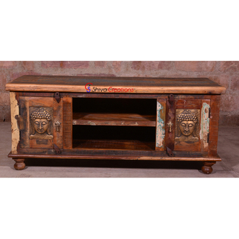 Reclaimed Wood Tv Media Entertainment Plasma Stand Cabinet