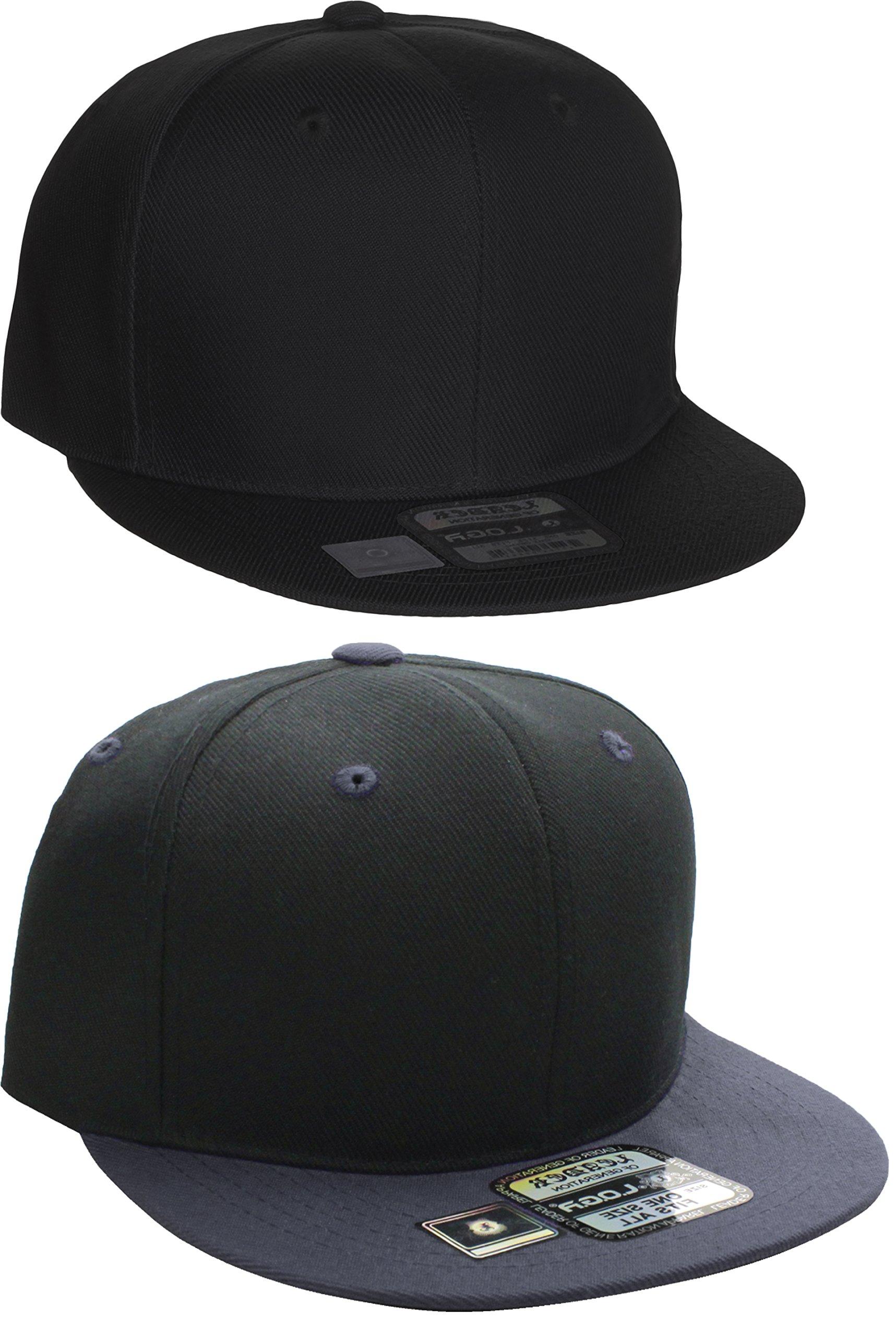 b369194522e52 Get Quotations · L.O.G.A. Plain Adjustable Snapback Hats Caps Flat Bill  Visor