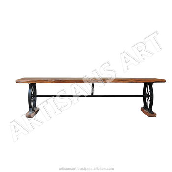 Incredible Loft Industrial Reclaimed Solid Slab Acacia Wood Dining Table Bench Live Edge Top Antique Furniture Buy Antique Bench Live Edge Solid Wood Rustic Ibusinesslaw Wood Chair Design Ideas Ibusinesslaworg