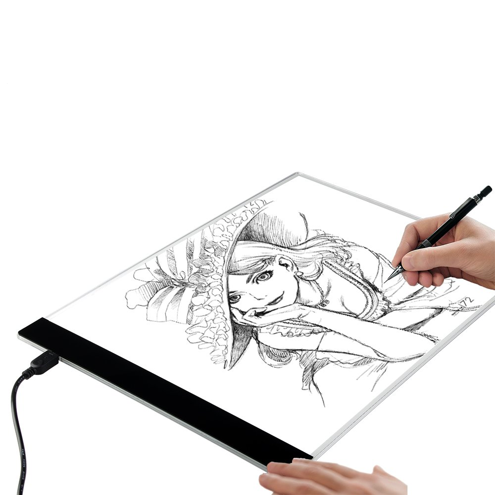 Notebooks & Writing Pads Inventive A4 Led Stencil Board Light Box Artist Tracing Drawing Copy Plate Table Gift Complete Range Of Articles