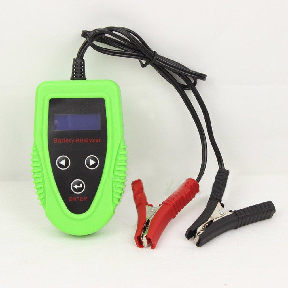 Outzone Digital Battery Tester 12V Digital Car Battery Tester Automotive Battery Load Tester and Battery Analyzer Car Charge Diagnostic Tool Gel AGM WET CA SLA Battery CCA IR SOH Scanner