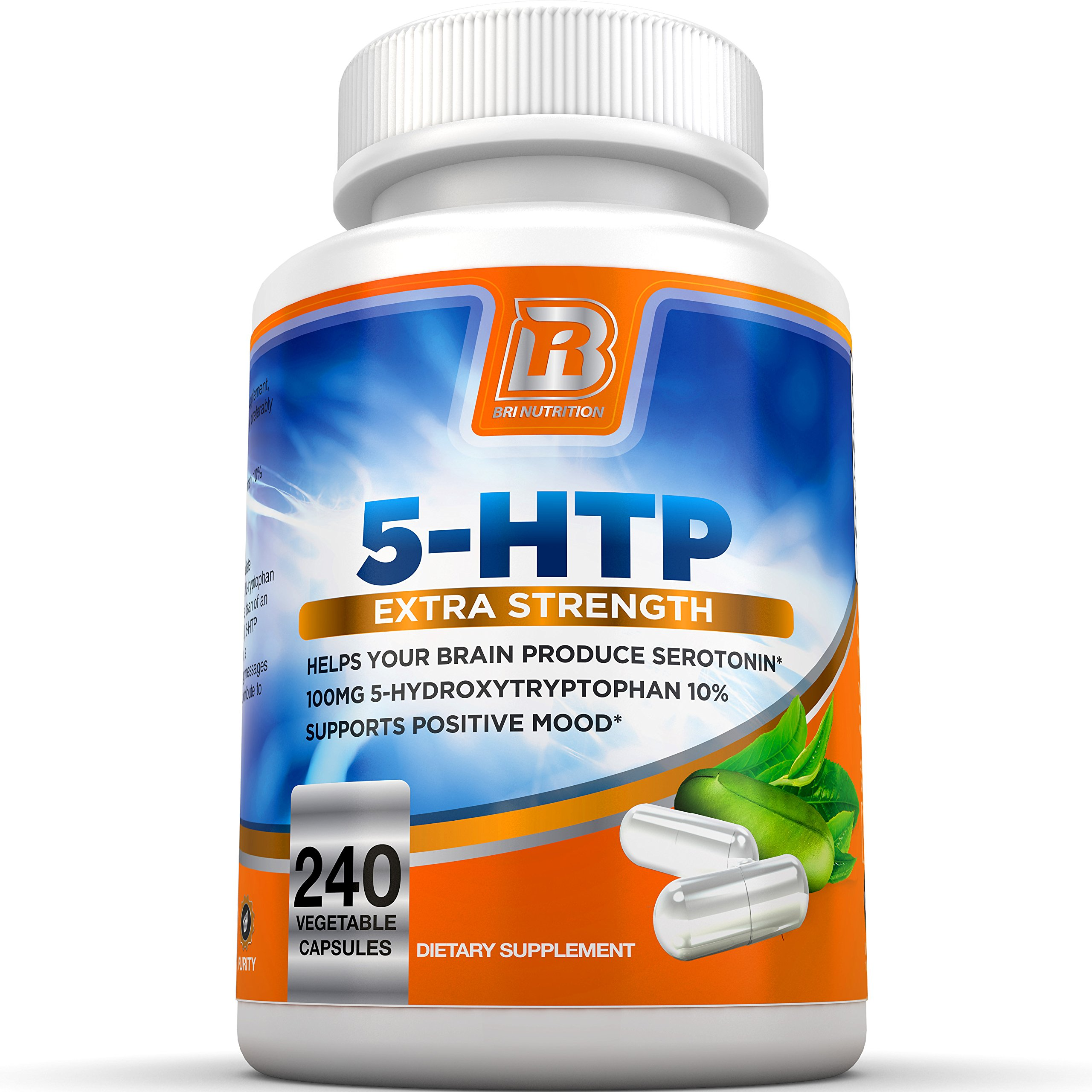 Get Quotations · BRI Nutrition 5 HTP 100mg 240 Vegetarian Capsule - 5HTP  Supplement to Support Depression & Anxiety