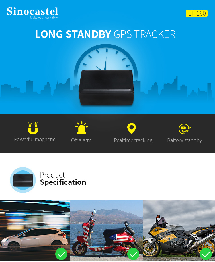 Real-time Tracking Magnet Asset GPS Tracker With Long Life Battery