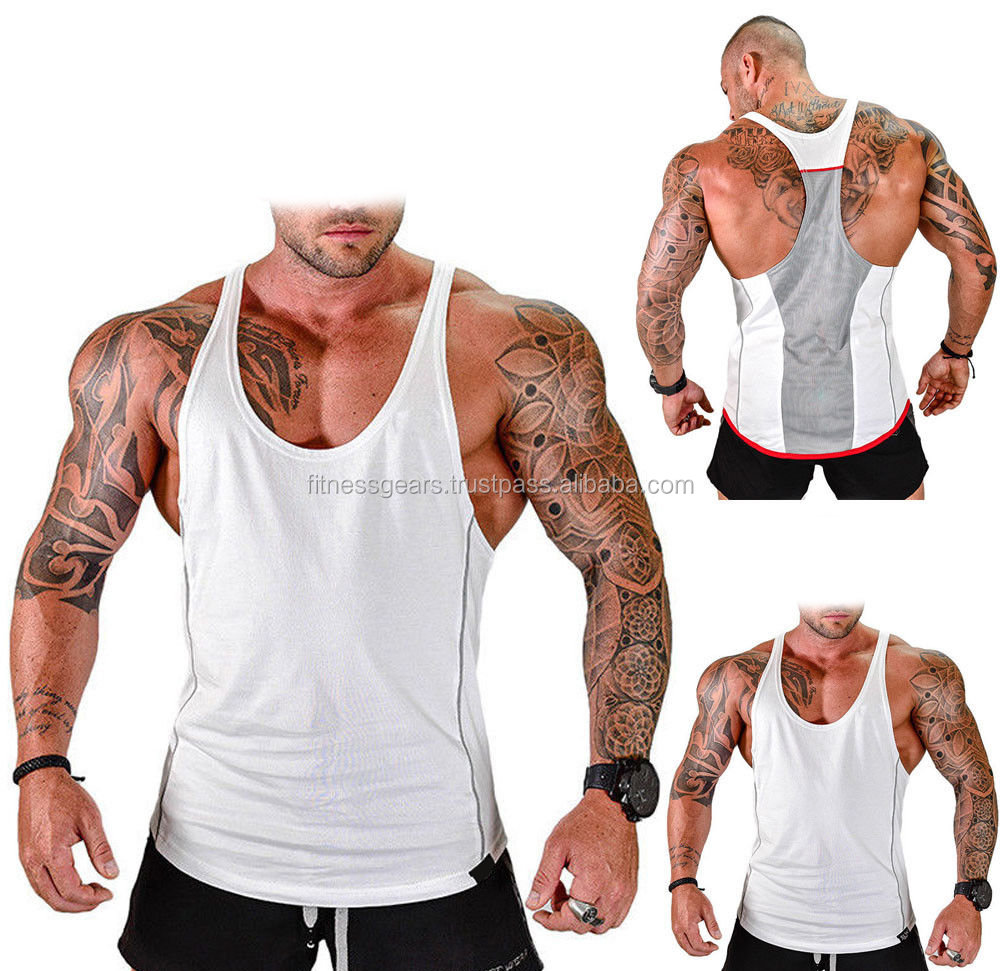 Gym Workout Fitness Bodybuilding Tank Tops mannen Spier Sleeveless Tee Shirt